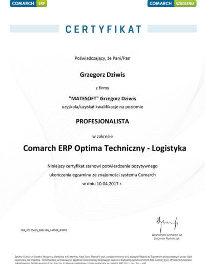 Comarch ERP Optima Techniczny - Logistyka