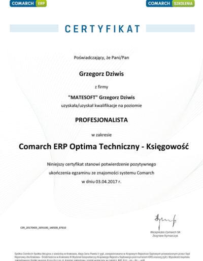 Comarch ERP Optima Techniczny - Księgowość