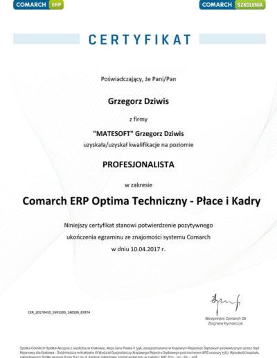 Comarch ERP Optima Techniczny - Płace i Kadry
